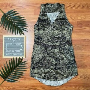 Haute Hippie Crystal Ball Beaded Animal Mini Dress